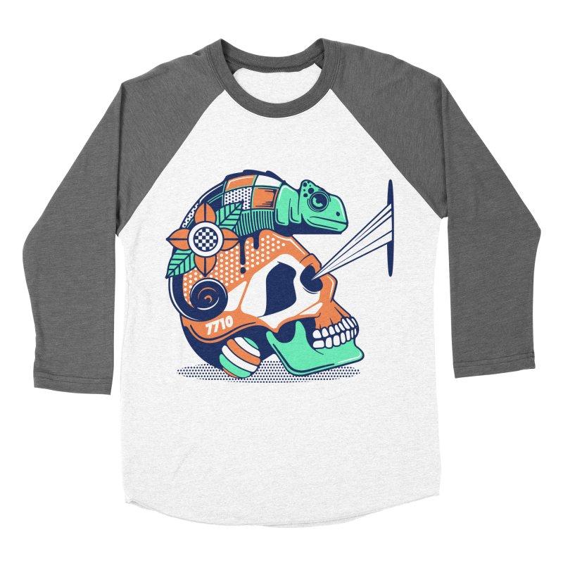 SKULL CHAMELEON Women's Baseball Triblend Longsleeve T-Shirt by kukulcanvas's Artist Shop