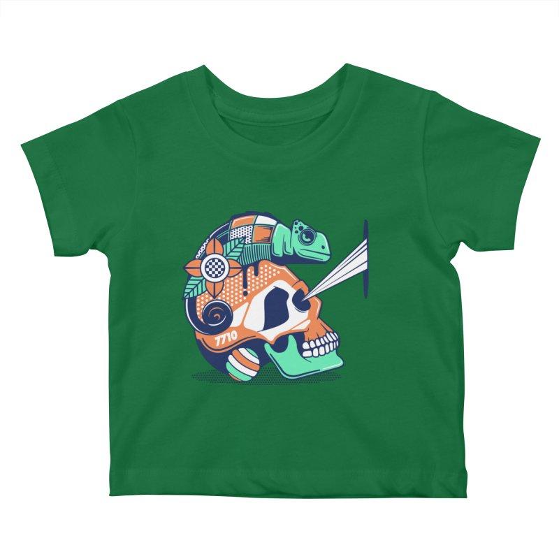 SKULL CHAMELEON Kids Baby T-Shirt by kukulcanvas's Artist Shop