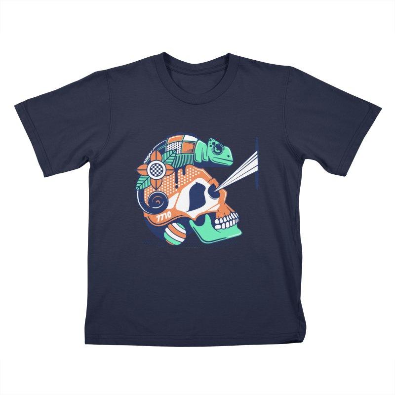 SKULL CHAMELEON Kids T-Shirt by kukulcanvas's Artist Shop
