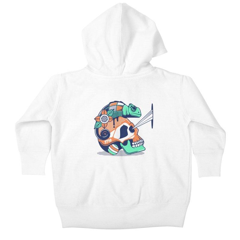 SKULL CHAMELEON Kids Baby Zip-Up Hoody by kukulcanvas's Artist Shop