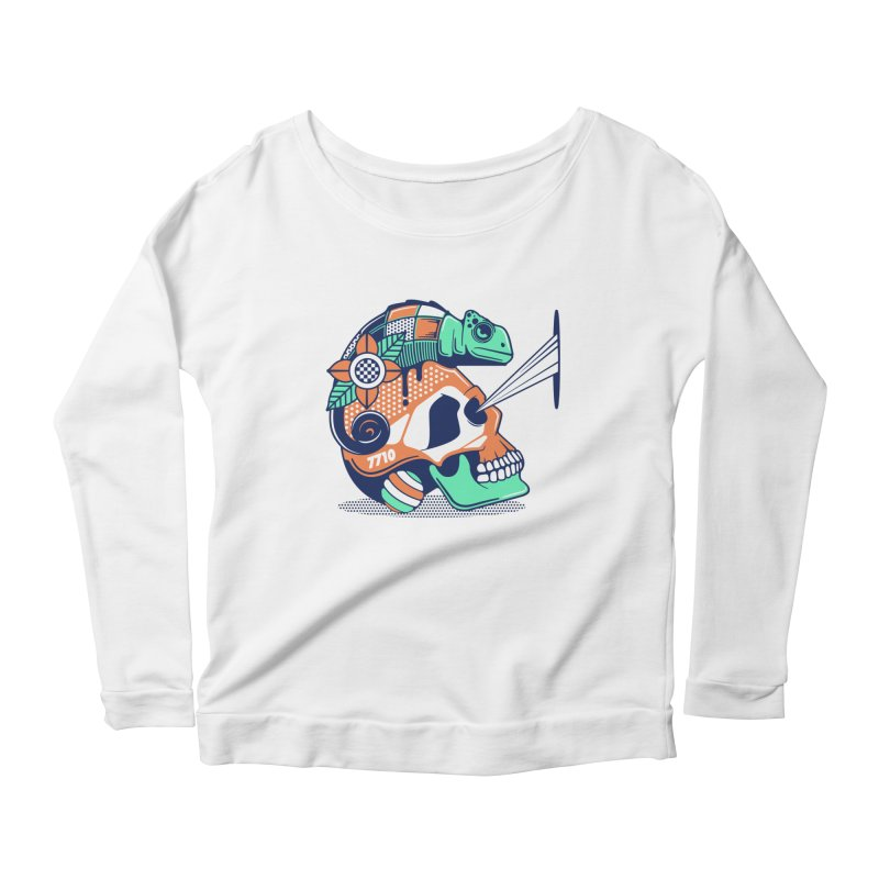 SKULL CHAMELEON Women's Longsleeve T-Shirt by kukulcanvas's Artist Shop