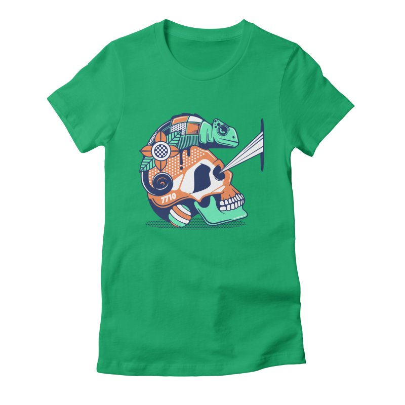 SKULL CHAMELEON Women's T-Shirt by kukulcanvas's Artist Shop