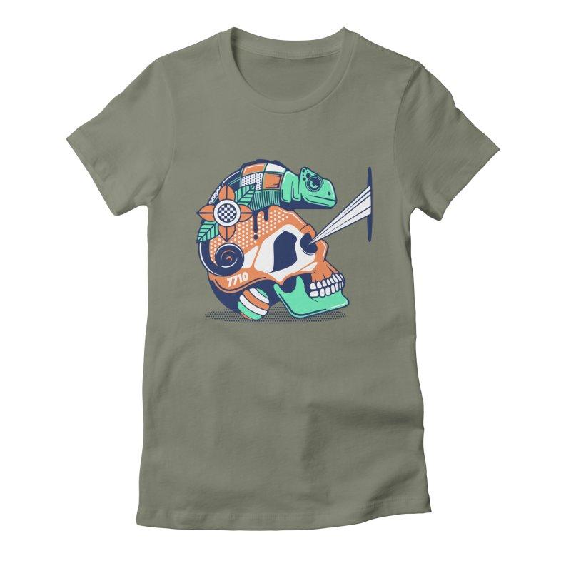 SKULL CHAMELEON Women's T-Shirt by kukulcanvas's Artist Shop