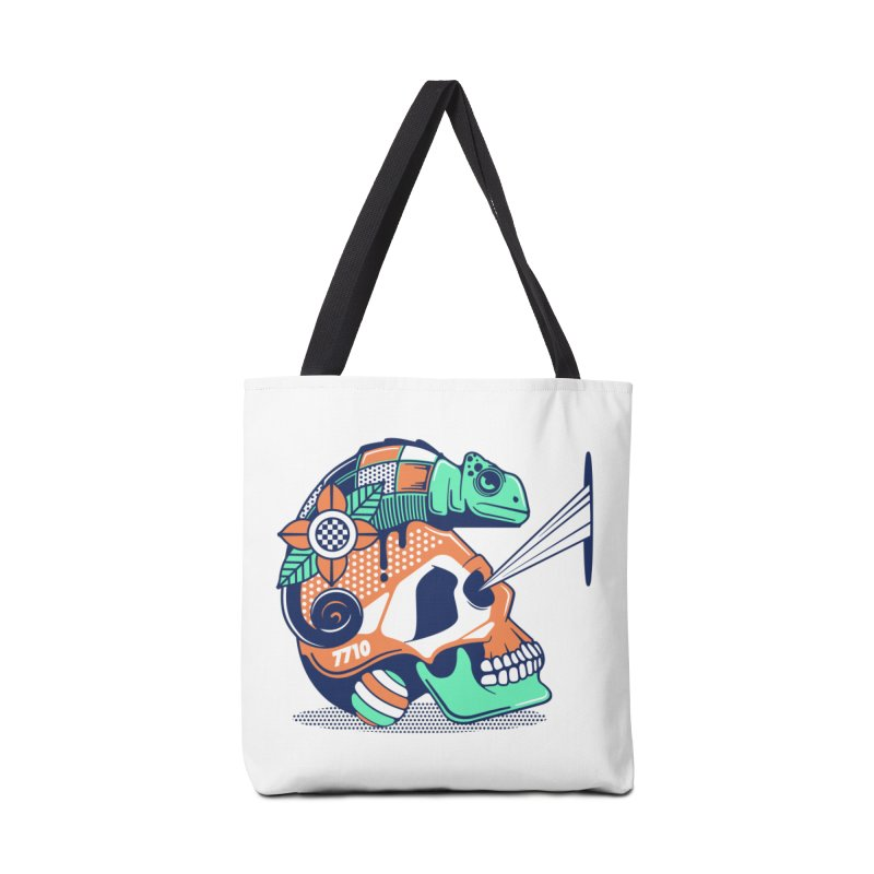 SKULL CHAMELEON Accessories Bag by kukulcanvas's Artist Shop