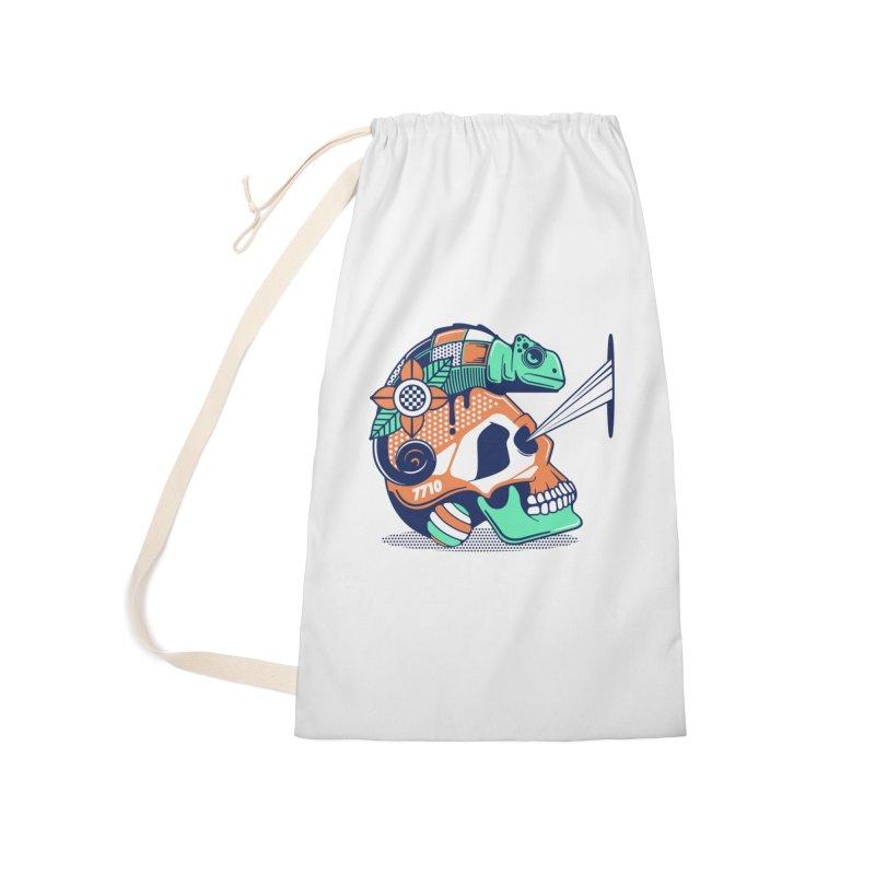 SKULL CHAMELEON Accessories Bag by kukulcanvas's Artist Shop