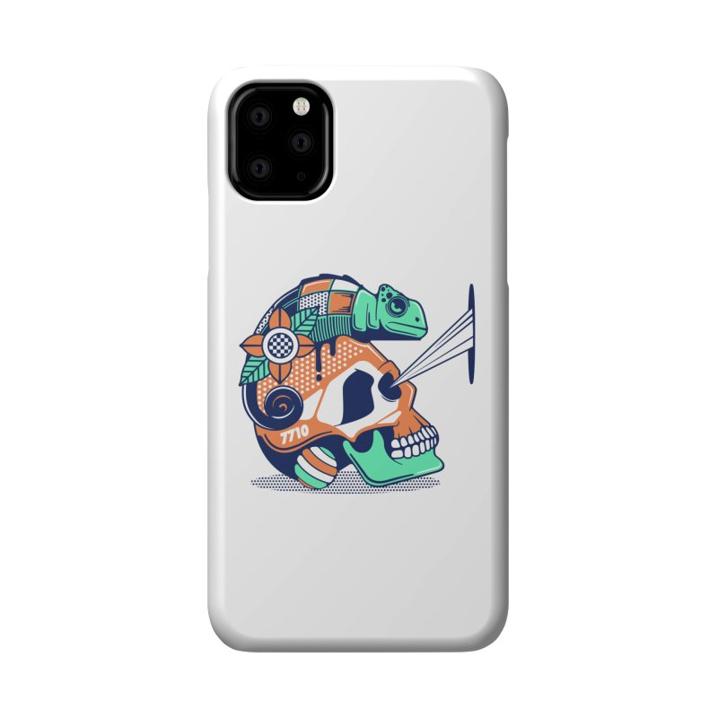 SKULL CHAMELEON Accessories Phone Case by kukulcanvas's Artist Shop
