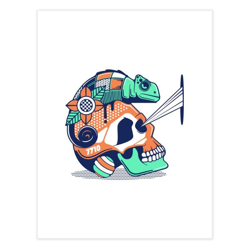 SKULL CHAMELEON Home Fine Art Print by kukulcanvas's Artist Shop