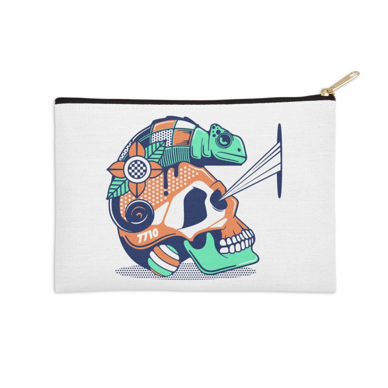 SKULL CHAMELEON Accessories Zip Pouch by kukulcanvas's Artist Shop