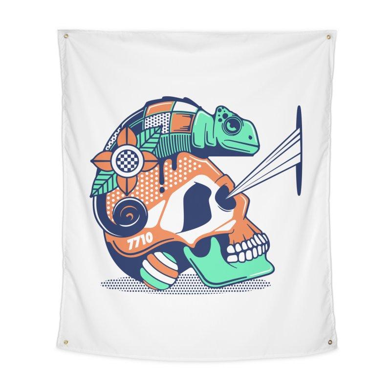 SKULL CHAMELEON Home Tapestry by kukulcanvas's Artist Shop
