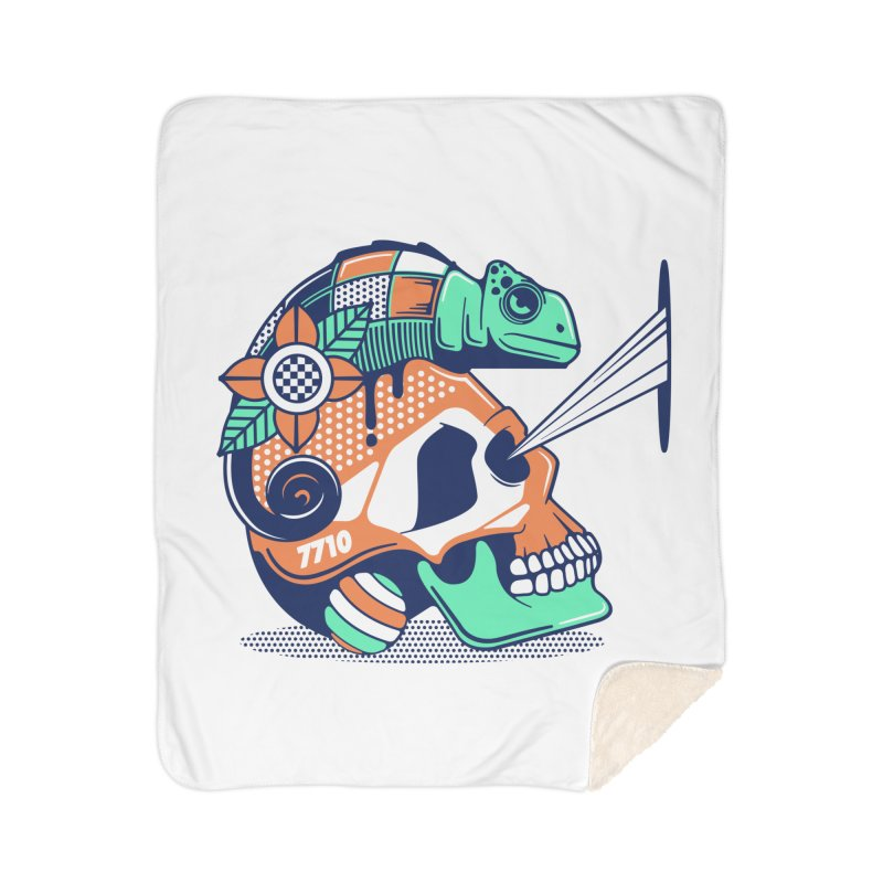 SKULL CHAMELEON Home Blanket by kukulcanvas's Artist Shop