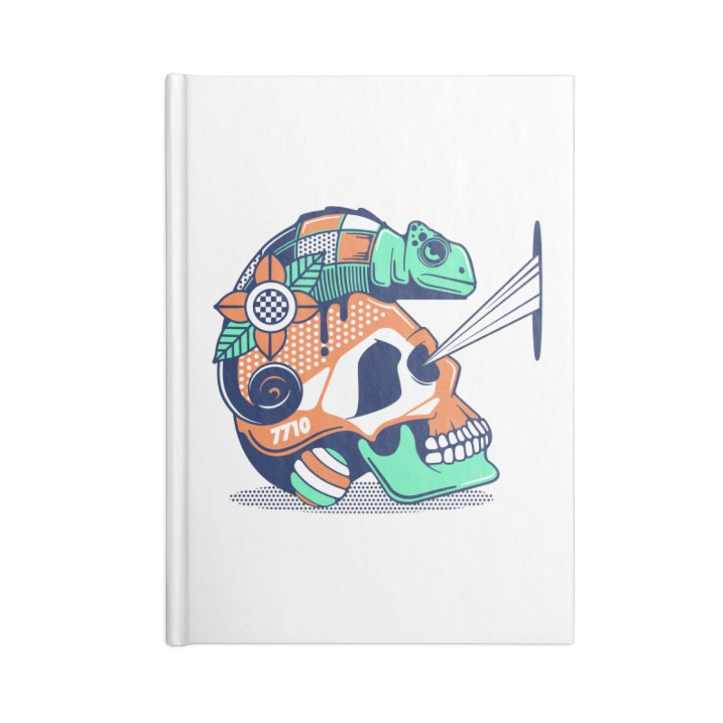 SKULL CHAMELEON Accessories Notebook by kukulcanvas's Artist Shop