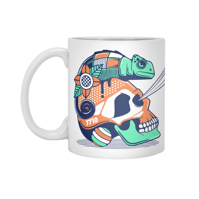 SKULL CHAMELEON Accessories Mug by kukulcanvas's Artist Shop