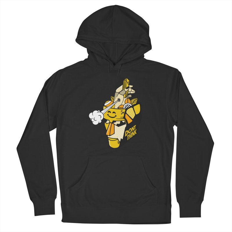 DONT THINK Men's Pullover Hoody by kukulcanvas's Artist Shop
