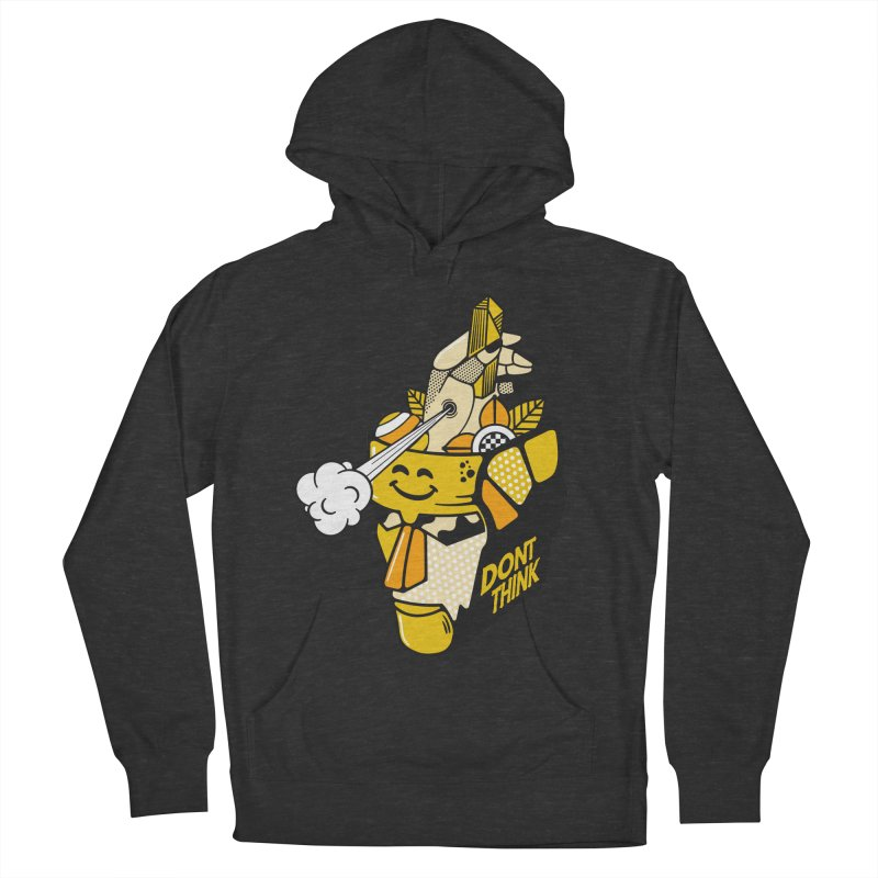 DONT THINK Men's French Terry Pullover Hoody by kukulcanvas's Artist Shop