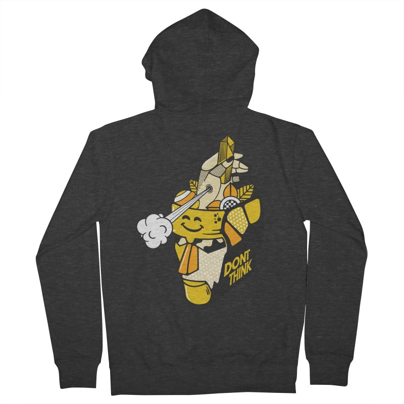 DONT THINK Men's French Terry Zip-Up Hoody by kukulcanvas's Artist Shop