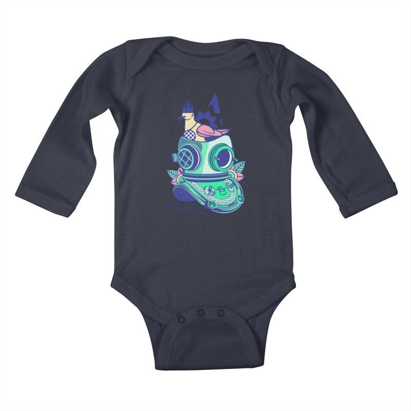 ESCAFANDRA Kids Baby Longsleeve Bodysuit by kukulcanvas's Artist Shop