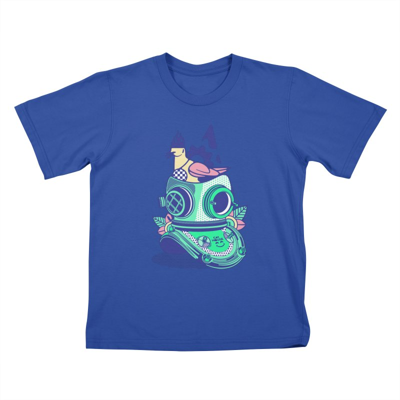 ESCAFANDRA Kids T-Shirt by kukulcanvas's Artist Shop