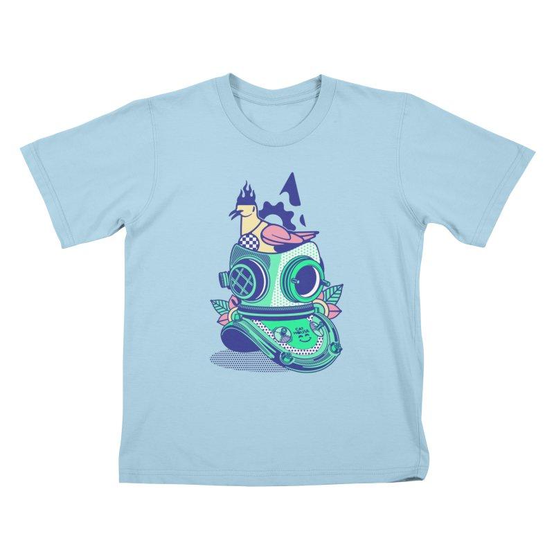 ESCAFANDRA Kids T-Shirt by kukulcanvas's Artist Shop