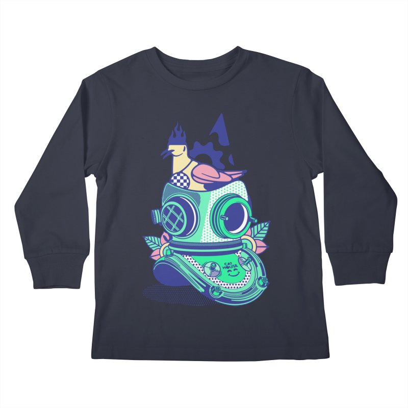 ESCAFANDRA Kids Longsleeve T-Shirt by kukulcanvas's Artist Shop