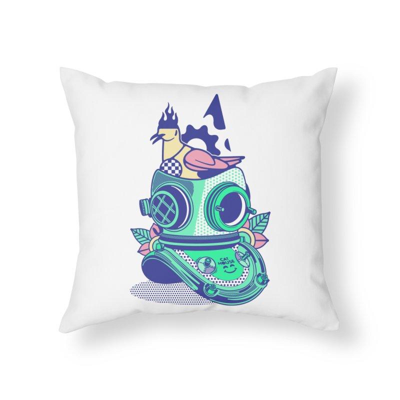 ESCAFANDRA Home Throw Pillow by kukulcanvas's Artist Shop