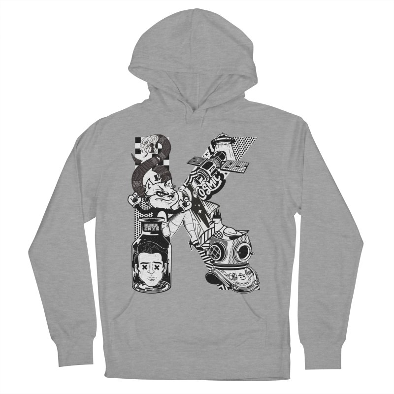 K Men's French Terry Pullover Hoody by kukulcanvas's Artist Shop