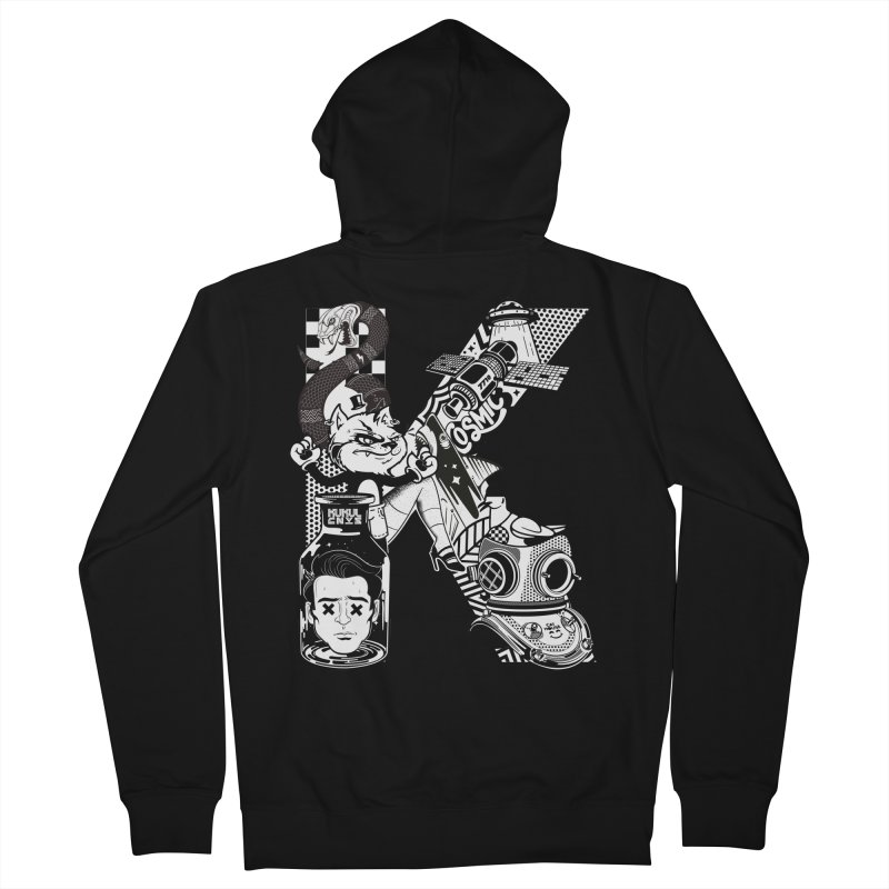 K Men's Zip-Up Hoody by kukulcanvas's Artist Shop