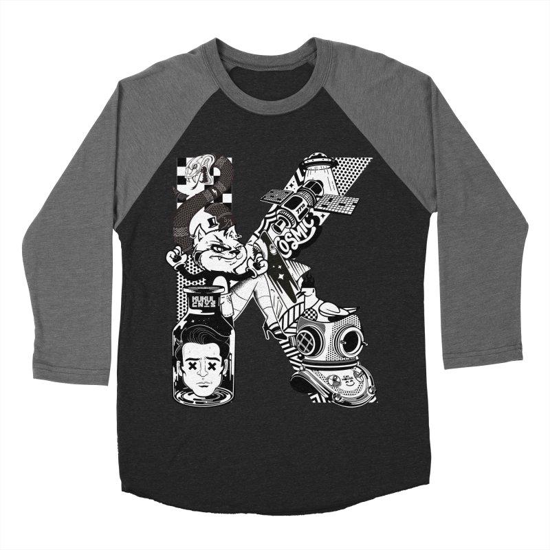 K Men's Baseball Triblend Longsleeve T-Shirt by kukulcanvas's Artist Shop