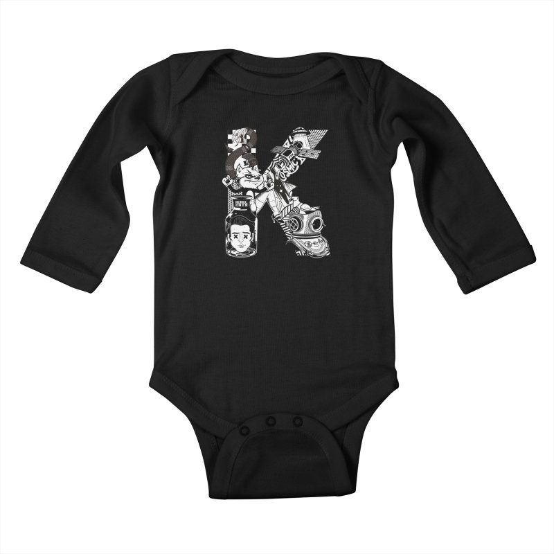 K Kids Baby Longsleeve Bodysuit by kukulcanvas's Artist Shop