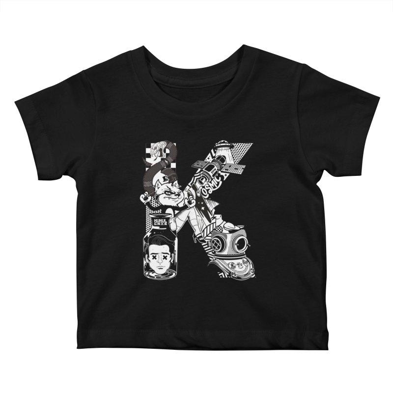 K Kids Baby T-Shirt by kukulcanvas's Artist Shop