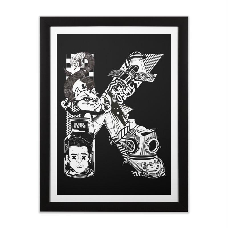 K Home Framed Fine Art Print by kukulcanvas's Artist Shop