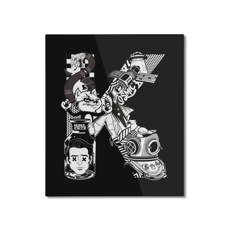 K Home Mounted Aluminum Print by kukulcanvas's Artist Shop