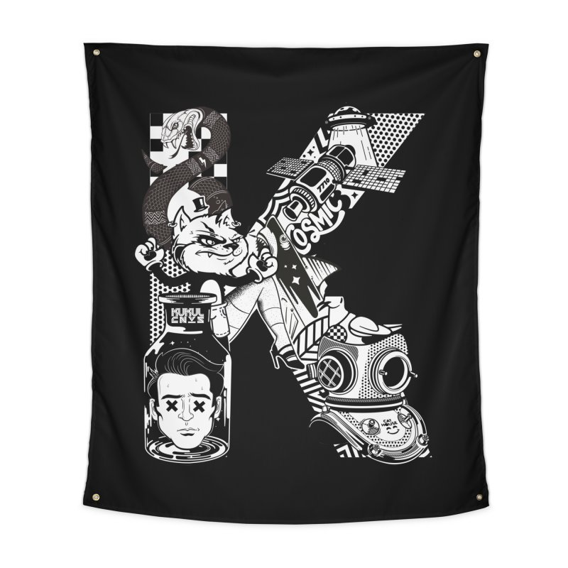 K Home Tapestry by kukulcanvas's Artist Shop
