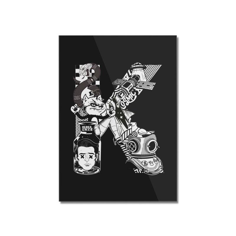 K Home Mounted Acrylic Print by kukulcanvas's Artist Shop