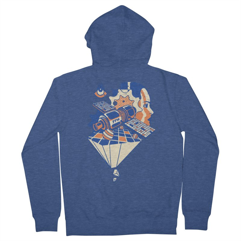 ORBITAL Men's Zip-Up Hoody by kukulcanvas's Artist Shop