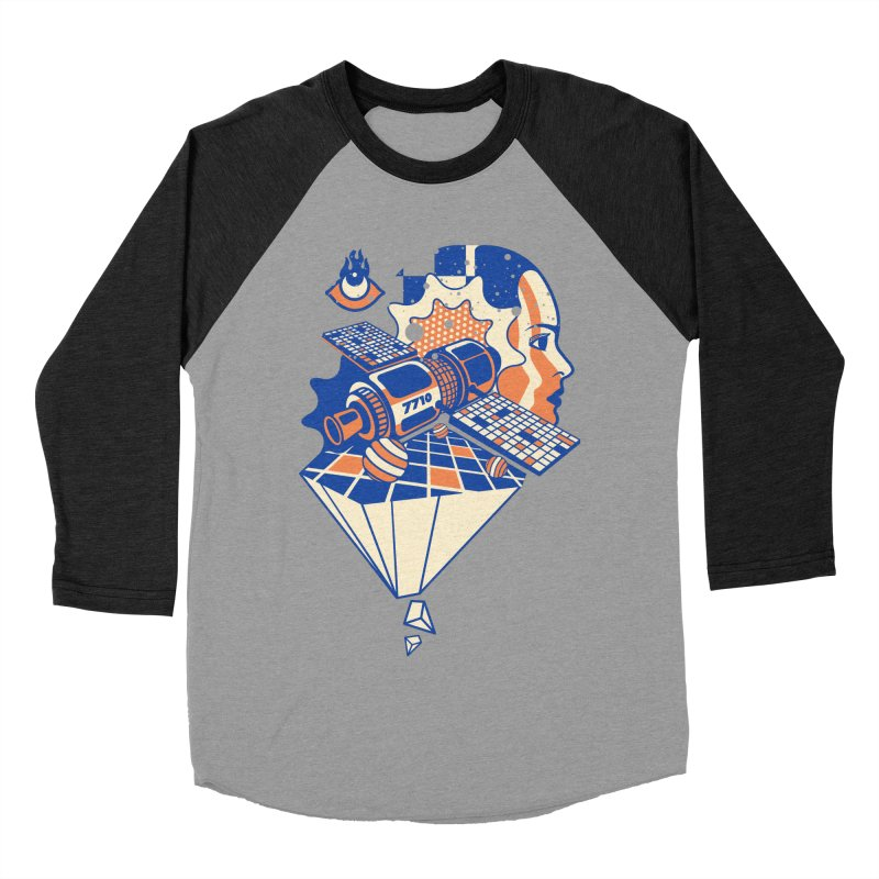 ORBITAL Women's Baseball Triblend Longsleeve T-Shirt by kukulcanvas's Artist Shop