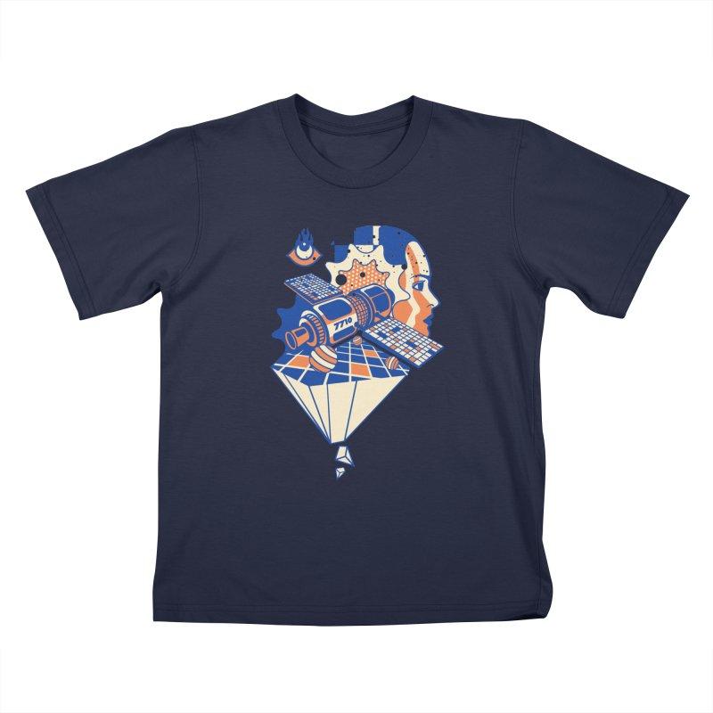 ORBITAL Kids T-Shirt by kukulcanvas's Artist Shop