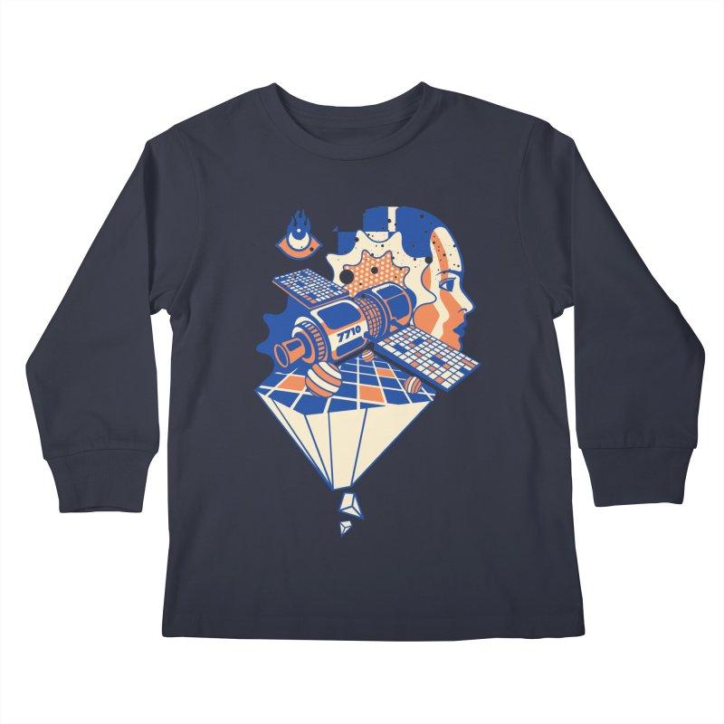 ORBITAL Kids Longsleeve T-Shirt by kukulcanvas's Artist Shop