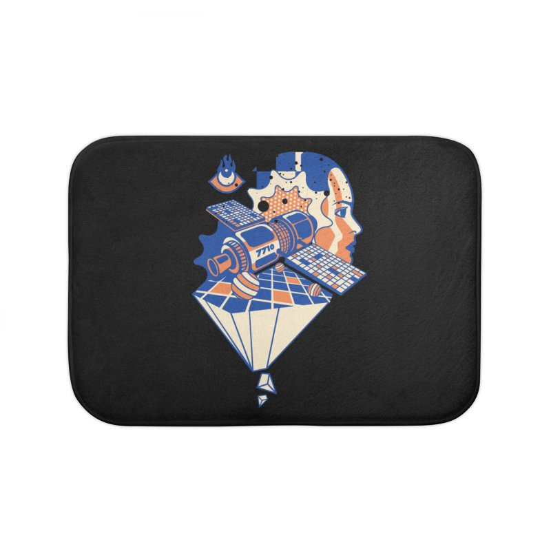 ORBITAL Home Bath Mat by kukulcanvas's Artist Shop
