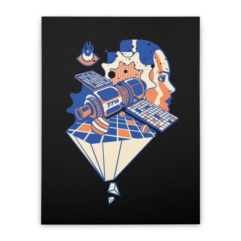 ORBITAL Home Stretched Canvas by kukulcanvas's Artist Shop