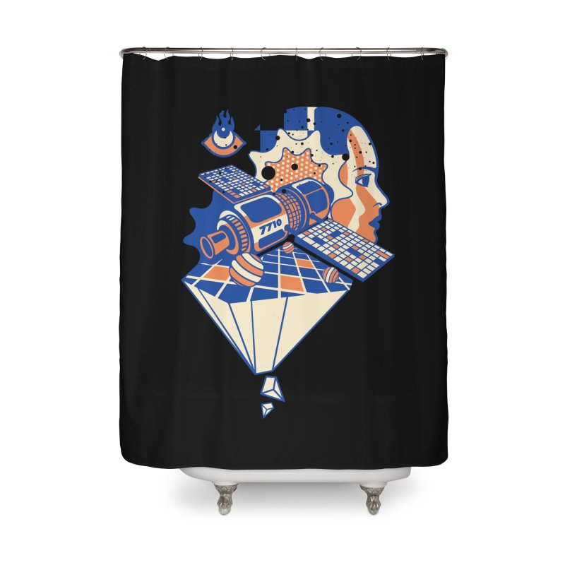 ORBITAL Home Shower Curtain by kukulcanvas's Artist Shop