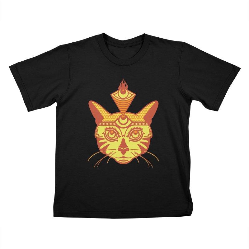 LIGHTCAT Kids T-Shirt by kukulcanvas's Artist Shop