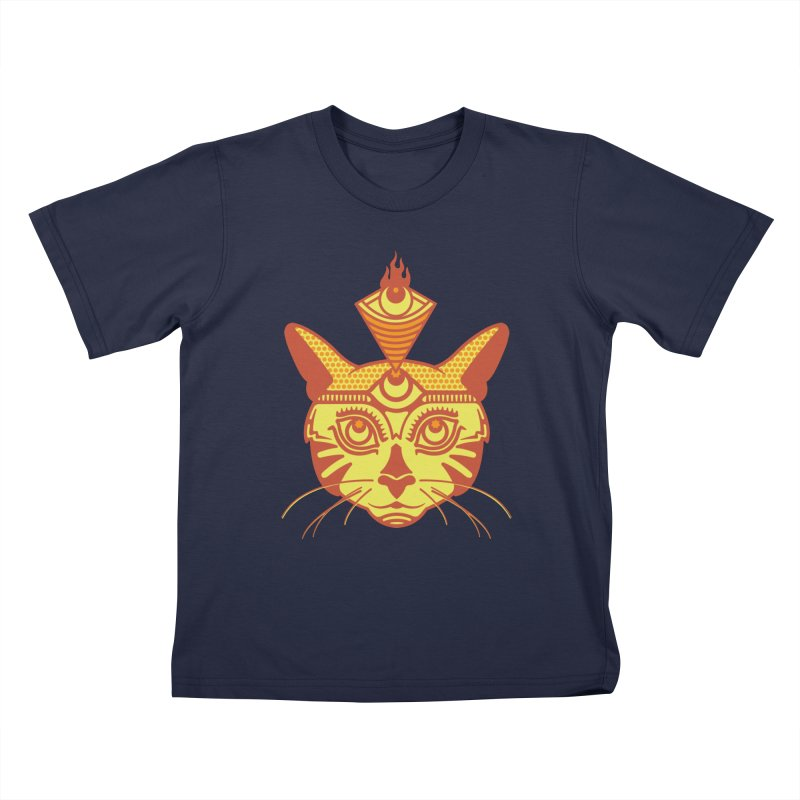 LIGHTCAT Kids T-Shirt by kukulcanvas's Artist Shop