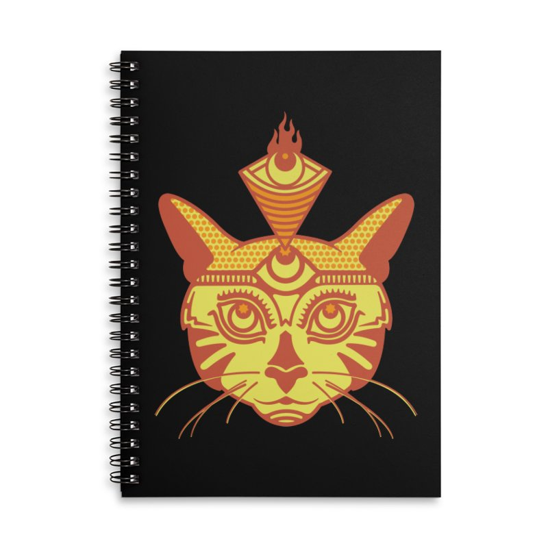 LIGHTCAT Accessories Notebook by kukulcanvas's Artist Shop