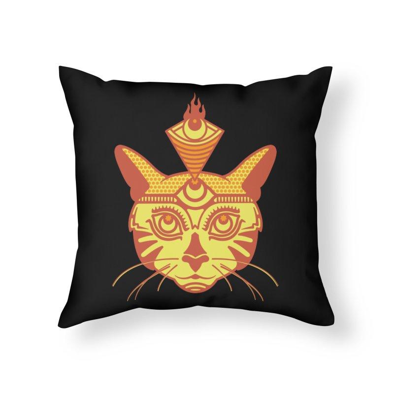 LIGHTCAT Home Throw Pillow by kukulcanvas's Artist Shop