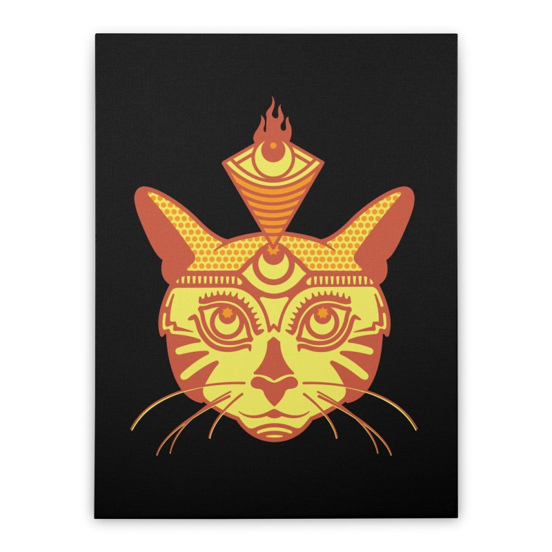 LIGHTCAT Home Stretched Canvas by kukulcanvas's Artist Shop