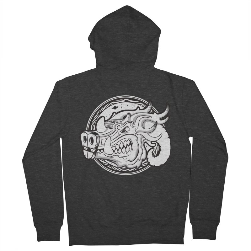VIKING Women's French Terry Zip-Up Hoody by kukulcanvas's Artist Shop
