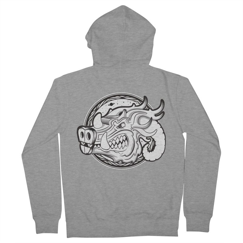 VIKING Men's French Terry Zip-Up Hoody by kukulcanvas's Artist Shop