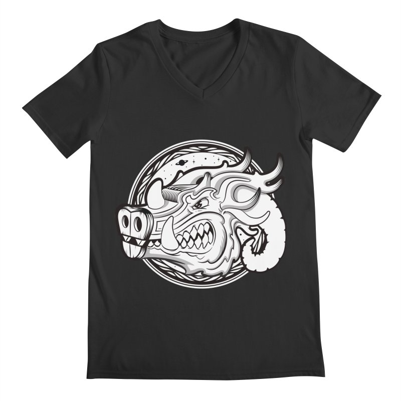 VIKING Men's Regular V-Neck by kukulcanvas's Artist Shop