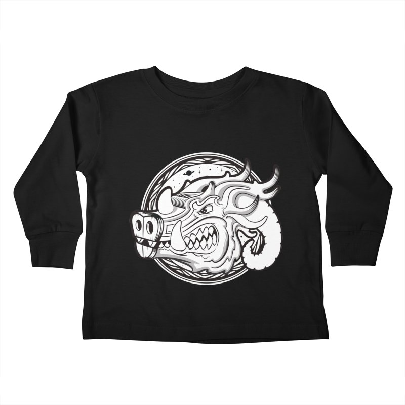 VIKING Kids Toddler Longsleeve T-Shirt by kukulcanvas's Artist Shop