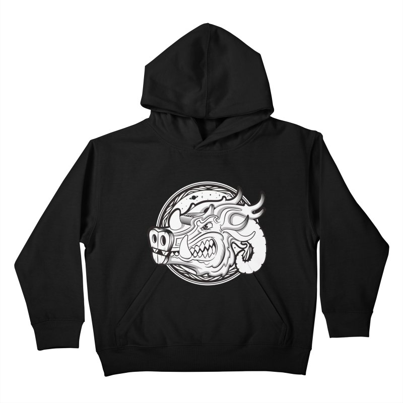 VIKING Kids Pullover Hoody by kukulcanvas's Artist Shop